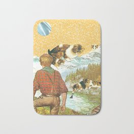 Don't Go Into the Water handcut collage Bath Mat
