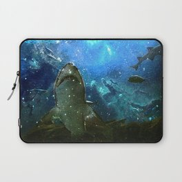 The Great White Marine Lava Lamp Laptop Sleeve