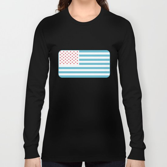 U.S.A. Flag Modified Long Sleeve T-shirt