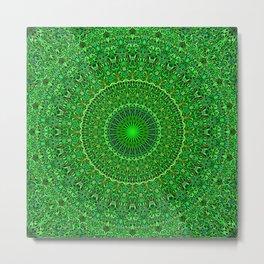 Spiritual Forest Garden Mandala Metal Print