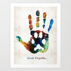 Rainbow Bridge Art - Never Forgotten - By Sharon Cummings Art Print
