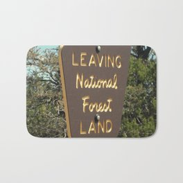 Leaving National Forest Land Bath Mat