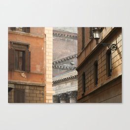 Street View of the Pantheon of Rome Canvas Print