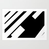 stripe Art Prints featuring stripe by noirblanc777