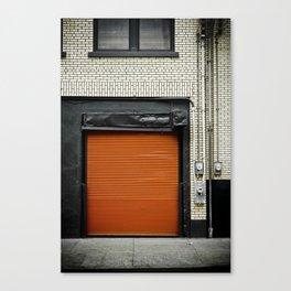 Red Metropolitan Garage Canvas Print