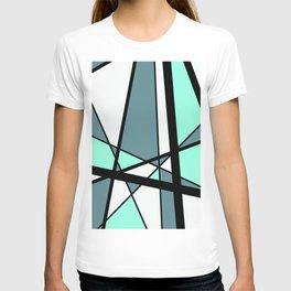 Mikado Pattern turquoise white design T-shirt