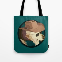 Golden Retriever in a Cowboy Hat Tote Bag