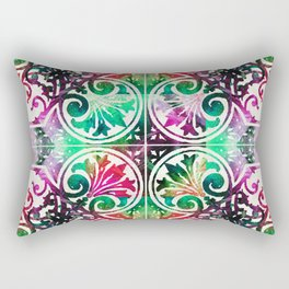 Bright Colorful Pattern Art - Color Fusion Design 10 By Sharon Cummings Rectangular Pillow