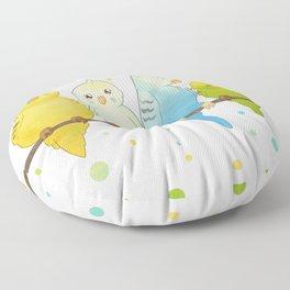 The Budgie Bunch Floor Pillow