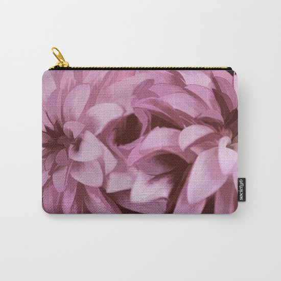 Just The Two Of Us - Painterly Dahlias Carry-All Pouch