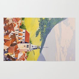 Services Automobiles, French Travel Poster Rug