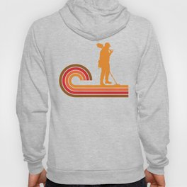 Retro Style Coinshooter Silhouette Metal Detecting Hoody