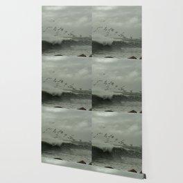 Birds dancing in the waves Wallpaper