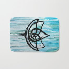 Lotus in the Rain I Bath Mat