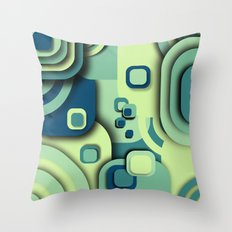 Turquoise composition Throw Pillow