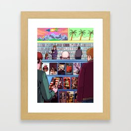 VIDEO NASTY Framed Art Print