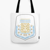 argentina Tote Bags featuring Argentina Crest by George Williams