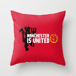 Manchester Is United Throw Pillow