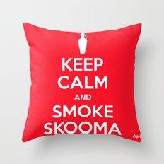 smoke skooma Throw Pillow