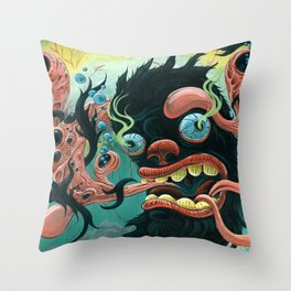 Guardian of the Bubble Pipes of Creation Throw Pillow