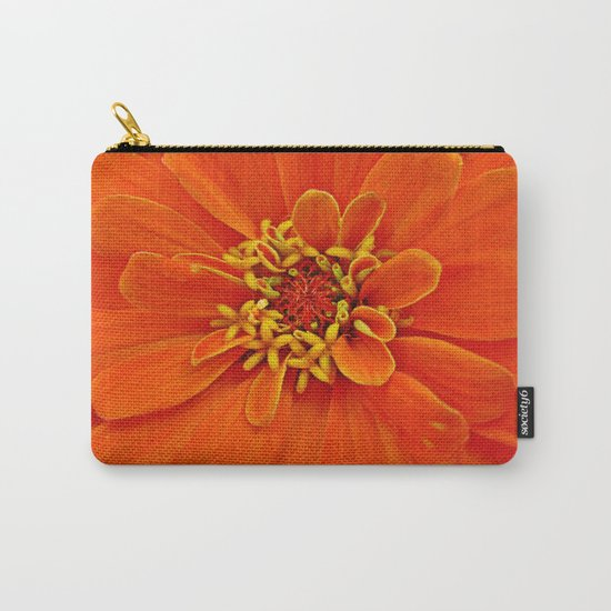 Orange Petals Carry-All Pouch