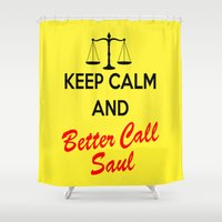 lawyer Shower Curtains featuring Better Call Saul by DeBUM