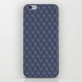 Classic leaves navy iPhone Skin