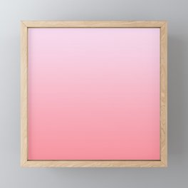 Pastel Ombre Lilac Millennial Pink Gradient Pattern Framed Mini Art Print