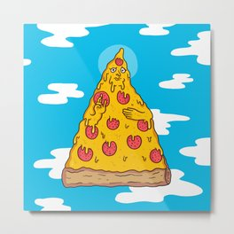 Pizza Be With You Metal Print