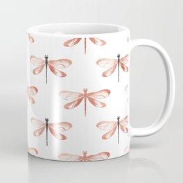 Rose Gold Dragonfly Coffee Mug