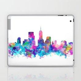 indianapolis city skyline watercolor 4 Laptop & iPad Skin