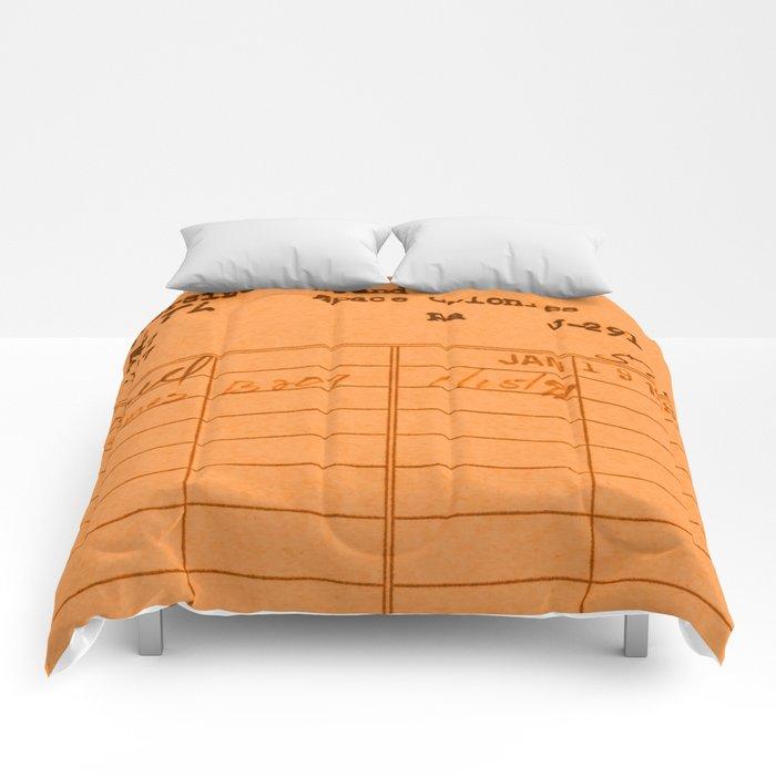 Library Card 797 Orange Comforters