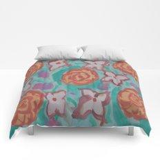 Watercolor Flowers Print Comforters