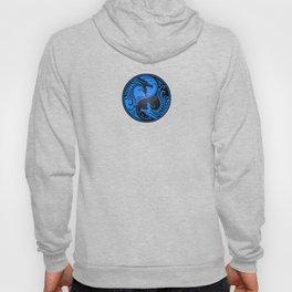 Blue and Black Yin Yang Dragons Hoody