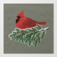 cardinal Canvas Prints featuring Cardinal by Sam Magee