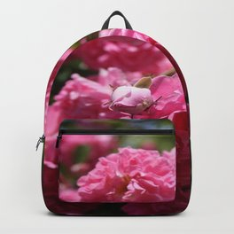 Wild Roses With Garden Background Backpack