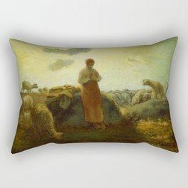 "Jean-François Millet ""The Keeper of the Herd"" Rectangular Pillow"