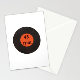 Vinyl record vintage 45 rpm 7 inch single Stationery Cards