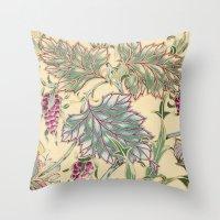 tiffany Throw Pillows featuring tiffany garden by Ariadne