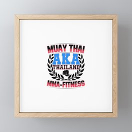 Muay Thai MMA Thailand Fitness Framed Mini Art Print