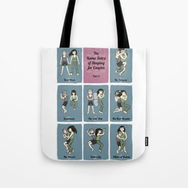 The Kama Sutra of Sleeping for Couples Part 2 Tote Bag