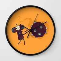 katamari Wall Clocks featuring Katamari of the Dead by Hector Mansilla