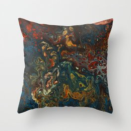 Flower Child - An Abstract Piece Throw Pillow