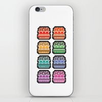 8bit iPhone & iPod Skins featuring 8bit burger by thev clothing