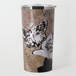 Long Gone Whisper II (street art graffiti painting, girl with butterflies) Travel Mug
