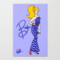 barbie Canvas Prints featuring Barbie by Eva Duplan Illustrations