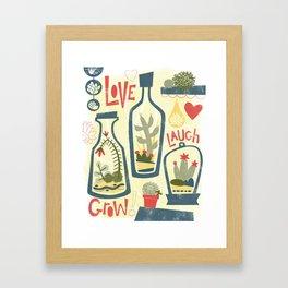 Love Laugh Grow Framed Art Print