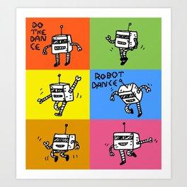 Robot Dance Art Print