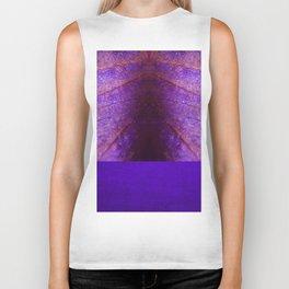 purple pattern with petal texture Biker Tank
