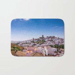 Whitewashed town of Arcos de la Frontera in Cadiz, Andalusia, Spain Bath Mat